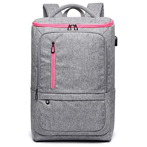 Anti-Diebstahl-Wasser-beständige College-Computer-Tasche, Bergwandern Wandern Wilder Rucksack, Sporttasche für Reise/Business/College (Farbe : Gray)