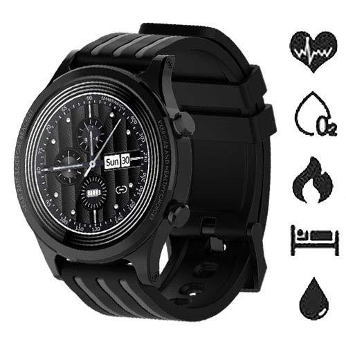 Smartwatch Fitness Tracker Orologio con Cardiofrequenzimetro da polso Contapassi Pressione Sanguigna Ossigeno nel Sangue Impermeabile IP67 Sportivo Activity Tracker per Android iOS(Giallo)