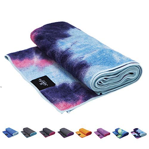 SUMI ECO ECO-FRIENDLY The Perfect Yoga Mats Towel - Super Soft, Sweat Absorbent, Multicolored Wicking, Non-Slip Bikram Hot Yoga Rug for Pilates Lovers (Pink Purple Mix)