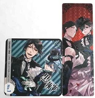 Black Butler Coaster Bookmark Ciel Sebastian Yana Toboso Square Enix Anime b F/S