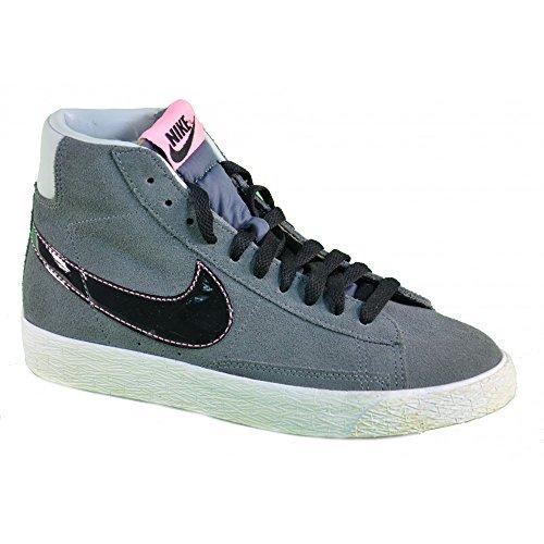 Nike - Nike Blazer Mid Vintage (TD) Kinderschuhe Grau Leder 549551 - Grau, 26