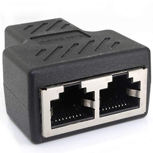 1aTTack.de Cat.6A Netzwerkkabel Kabelverbinder Kabel Splitter Adapter RJ45 kompatibel mit Cat5 Cat6 Cat7 Cat8 1 Stück