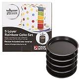 Wham 51500 Rainbow Cake  Tin  Five Layer Baking Pan Set Black