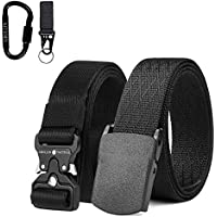 Grullin Men Tactical Nylon Webbing Molle EDC Clip Belt