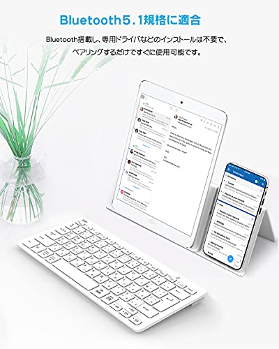 【マルチペアリング】jp配列Ewinキーボードワイヤレスbluetooth小型静音超薄型軽量スリムコンパクトus配列日本語かな入力ブルートゥースpcノートパソコンアイパッドiphoneipadスマホタブレットsurfacethinkpadmaciosandroidWindowsなど対応日本語説明書テレワークリモート在宅勤務在宅