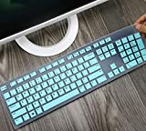 Silicone Keyboard Protector Skin Cover Compatible with Dell Desktop KM636 KB216 Keyboard, ...