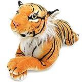 Sandor The Sumatran Tiger - 18 Inch (Tail Measurement Not Included) Sumatran Tiger Stuffed Animal Plush Cat - by Tiger Tale Toys