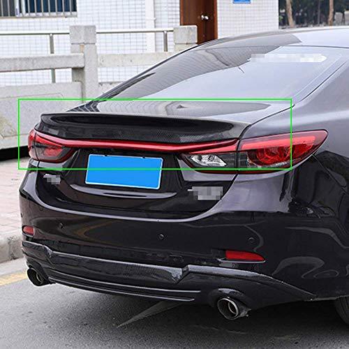 Real Carbon Fiber Auto Heckspoiler Dachspoiler Standard Heckklappe Spoiler Heck Heckflügel Lip Trunk Spoiler für Mazda 6 Atenza 2014 2015 2016 2017 2018, Autozubehör