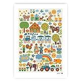 byGraziela Bauernhof Poster/Kinderzimmer Poster mit