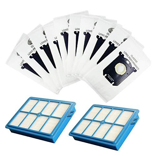 Herramientas de bricolaje H12 Hepa filtro y bolsa de filtro de polvo para Philips Fit para Electrolux Robot Aspiradora Accesorios (color: HXL2024) Cuidado del suelo (color: Hxl005)