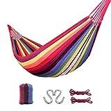 LZL Hamaca Individual Camping Hamaca con la Hamaca de árbol, Correas de Tela de paracaídas portátil Hamaca de Viaje con Mochila Balancearse (Color : A)