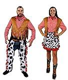 ILOVEFANCYDRESS - Disfraz de vaquera occidental y adulta para hombre (hombre pequeño   mujer mediana)