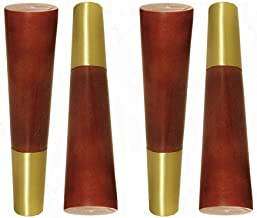 JSONA Set van 4 poten voor tafel, poten voor houten meubels, poten voor houten banken, reservepoten, bankpoten, reserveban...