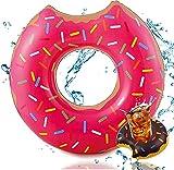 Swim Ring Ciambella Gonfiabile Gigante salvagente cuscino galleggiante per piscina e giochi d'acqua Adatto a Bambini e Adulti, per Spiaggia Anello di Nuoto del Piscina cuscino galleggiante(60cm, Rosa)