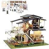 banapoy Casa de muñecas en Miniatura, Mini casa de muñecas a Escala 1:24 de Tres Pisos para Regalar a niños Adultos para la colección de exhibición del hogar