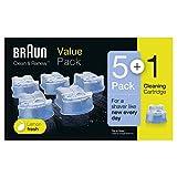 Braun Clean & Charge Cartucce di Ricarica per Rasoio da Barba Elettrico, Compatibili con t...