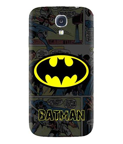 Sibu Print Batman Super Hero DC Character of Best Justice League Designer Printed Polycarbonate Matte Finish Hard Back Case Cover for Samsung Galaxy S4