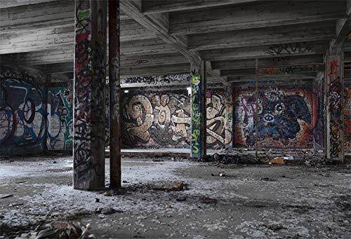 Fondos fotográficos de almacén Oscuro Graffiti Room Interior telón de Fondo fotográfico para Estudio fotográfico A10 3x3m