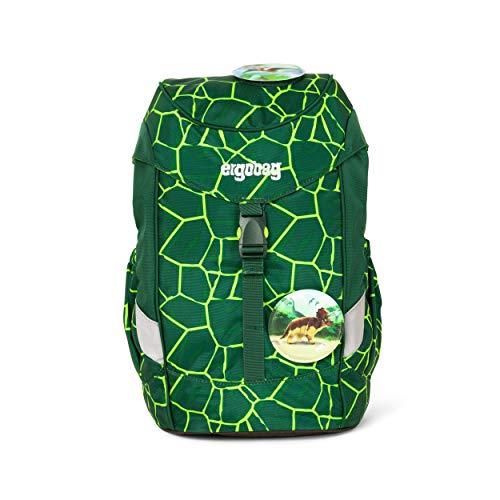 Ergobag Mini BärRex, ergonomischer Kinderrucksack, Kindergarten Vorschule, DIN A4, 10 Liter, 500 g, Lava Grün