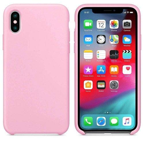 CABLEPELADO Funda Silicona iPhone X/XS Textura Suave Color Rosa