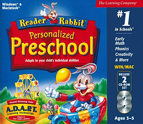 Reader Rabbit Personalized Preschool Deluxe (2 CD-ROM Set) (Compatible with Windows XP / Vista ONLY)