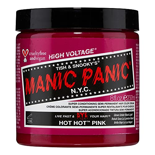 Manic Panic Hot Hot Pink Hair Dye Classic Line 8oz