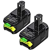 2Pack 18V 6.0Ah Replacement for Ryobi 18 Volt Lithium Battery One+ Plus P102 P103 P104 P105 P107...