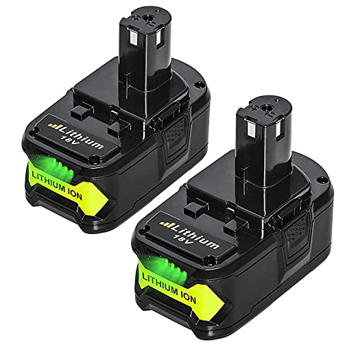 2Pack 18V 6.0Ah Replacement for Ryobi 18 Volt Lithium Battery One+ Plus P102 P103 P104 P105 P107 P108 P109 P122 Cordless Power Tools
