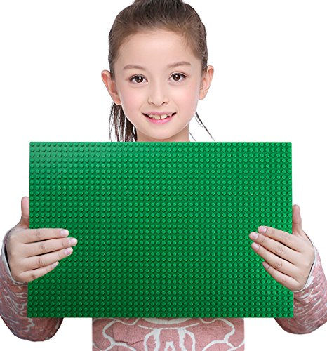 """Classic Baseplate Supplement 10"""" x 15"""" Base Plates Building Bricks Sets Compatible with All Major Brands Kids Games"""
