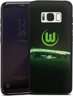DeinDesign Silikon Hülle kompatibel mit Samsung Galaxy S8 Case schwarz Handyhülle Offizielles Lizenzprodukt VFL Wolfsburg Stadion