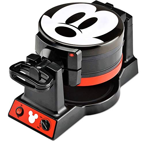 Disney Mickey Mouse Mickey Mouse Double Flip Waffle Maker, 1, Black, Red