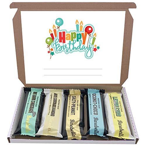 Barebells High Protein Bars 5x55g Chocolate Gift Hamper Box Low Sugar Mixed Bar (Birthday - 1)