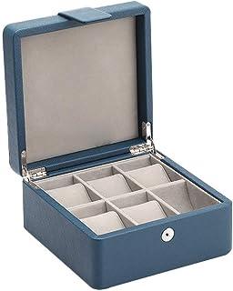 ECSWP SWGNSMQP Boîte à Bijoux - 6 Fente Coffret Collector Organisateur - Étui en Bois et Snap Fastener Fermeture - Emballa...