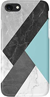 uCOLOR Green Black Marble Case Compatible with iPhone 8 Compatible with iPhone 7/6S/6/ SE 2nd (2020) Abstract Cloud Protec...