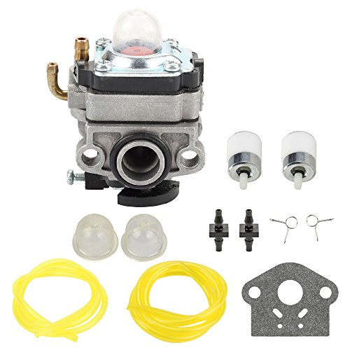 Panari 753-1225 Carburetor with Fuel Line Filter for MTD Troy Bilt TB415CS TB425CS TB465SS TB475SS TB490BC Trimmer Ryobi 650r 825r 825RA 875r 890 890r Yard Man YM21SS YM26SS YM26BC Brush Cutter