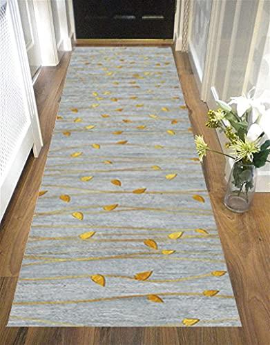 Orumrud Alfombra moderna de calidad gris larga que se puede cortar antideslizante para pasillo piso largo alfombra alfombra para corredor/cocina/escaleras