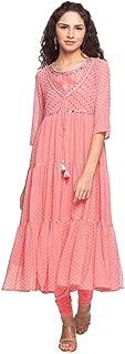 W for Woman Women's Synthetic Anarkali Salwar Suit Set
