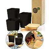 bambuswald ökologische Vorratsbehälter mit luftdichten Deckel aus Bambus   Aufbewahrungsbox in 3x Größen zur Auswahl (1,4L   1,1L   0,9L) - Küchendosen Aufbewahrungsdose Vorratsgläser Vorratsdosen
