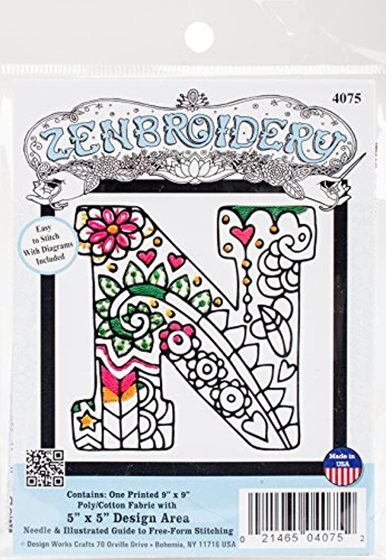 Design Works Crafts 4075 Zenbroidery, Letter N, 5