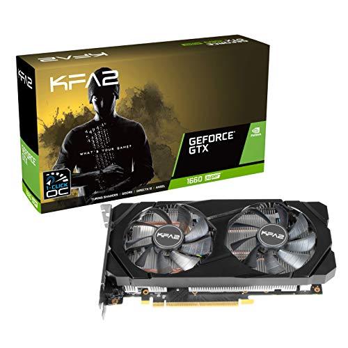 KFA2 nVidia GeForce GTX 1660 Super OC 6GB 192-bit GDDR6 PCIe Grafikkarte, 60SRL7DSY91K, schwarz