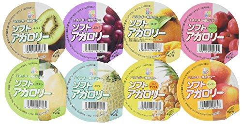 ソフトアガロリー 8種類詰め合わせ 83g  ( 8種類×各3個ずつ )  24個セット 【栄養補給ゼリー】 キッセイ薬品 _051990701