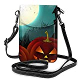 Hdadwy Bolso bandolera para teléfono con murciélago de calabaza de Halloween, minibolso pequeño...