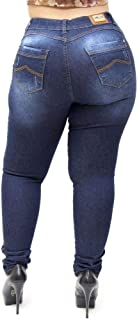 Calça Jeans Feminina Helix Plus Size Skinny Valdite Azul