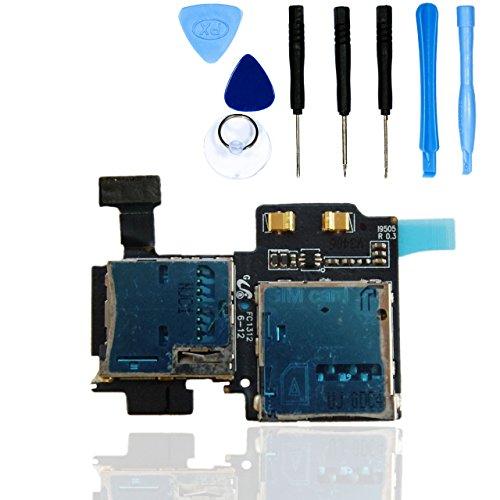 teparto SIM/Micro SD Kartenleser für Samsung Galaxy S4 i9500 / i9505 mit Werkzeugset