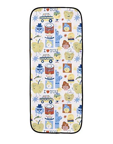 SLEEPAA Colchoneta Silla Paseo Ligera Universal Transpirable Carrito Bebé Antisudoracion Ajustable Fabricada en España Varios modelos (Big Apples)