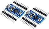 TECNOIOT 2pcs Pro Micro ATmega32U4 5 V/16MHz Module with Pin Header for arduino Leonardo