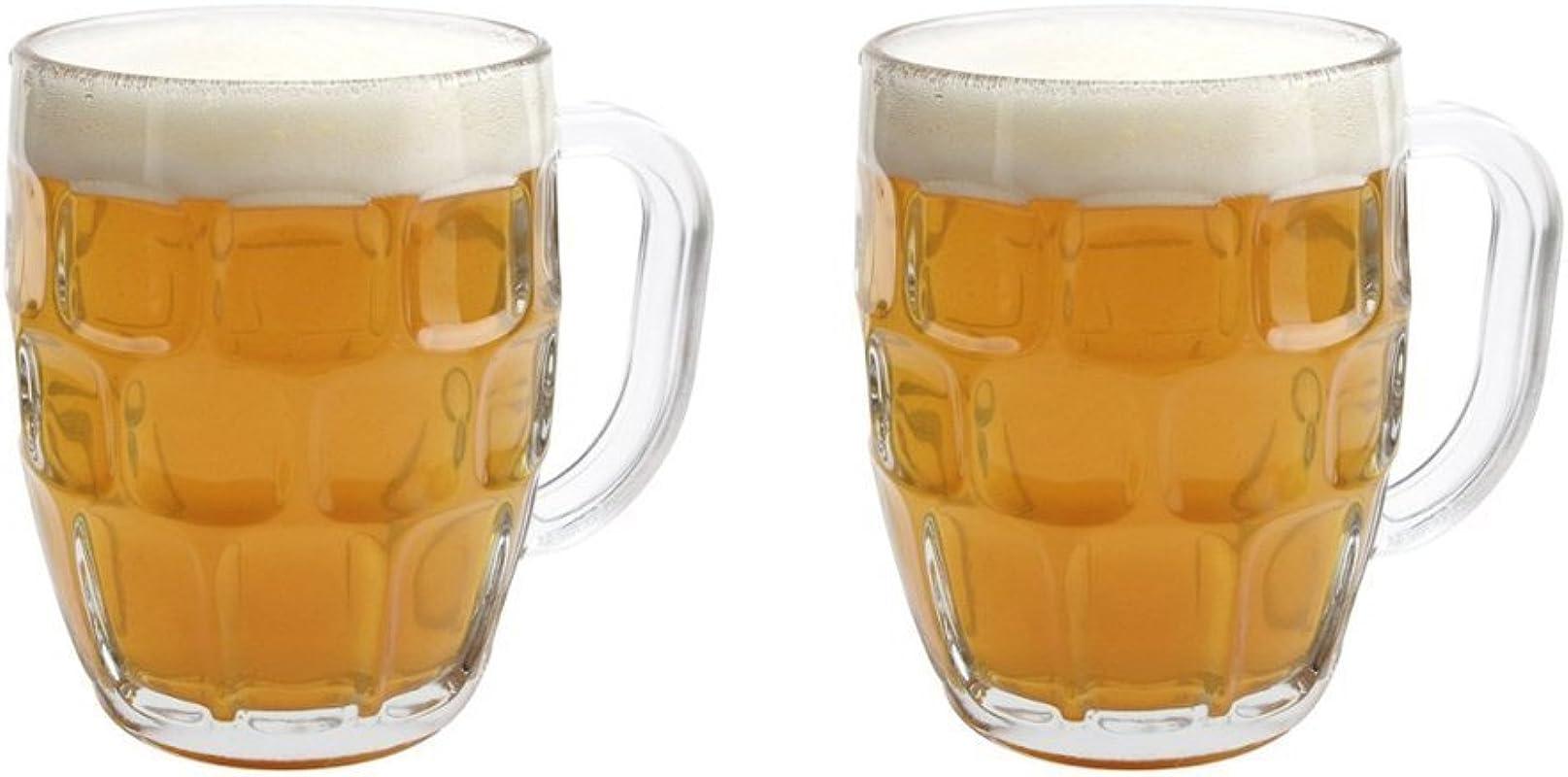 Libbey Dimple Stein Beer Mug 19 25 Oz 2 Pack W Pourer