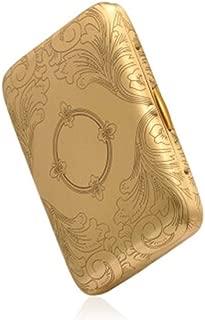 CPWJD Cigarette Case, Fine Copper Cigarette Case, Classic Bronze Thin Cigarette Case Gift Box, 16 Control Cigarette Type Stylish, sturdy, lightweight and durable. (Color : Bronze)