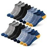 Newdora Calcetines Tobilleros Hombres, 8 Pares Calcetines Para Hombre y Mujer, Calcetines Deportivos Hombre Cortos, Invisibles Calcetines Hombre (37-42)