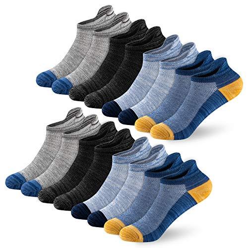 Newdora Sneaker Socken Herren,8 Paar Sneaker Socken Unisex Atmungsaktiv Baumwoll Socken für Sport Freizeit Lauf Outdoor Business Arbeits, 43-46, ND-06